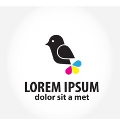Bird logo logo design template for printing vector
