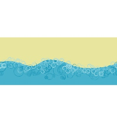 Seamless ocean banner vector