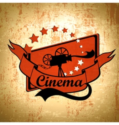 Retro cinema background vector