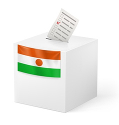 Ballot box with voting paper niger vector