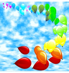 Baloon against a blue sky vector