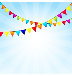 Party background with flags vector