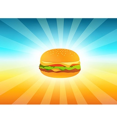 Delicious hamburger vector