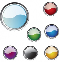 Multicoloured buttons for a web vector