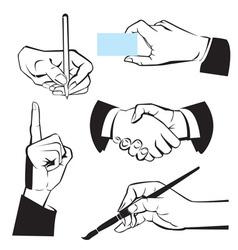 Hands - different gestures vector