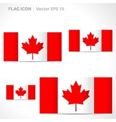 Canada flag template vector