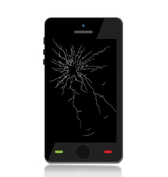 Phone cracked screen vector
