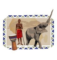 Africa wildlife culture vector
