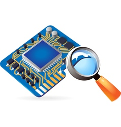 Icon of chipset and lens vector
