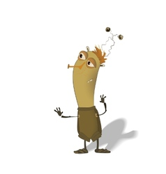 Funny thin bug cartoon vector