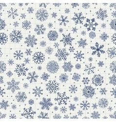 Winter snow flakes doodles vector