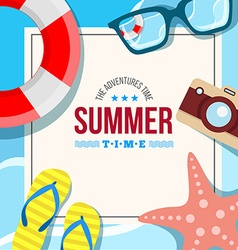 Summertime background card vector