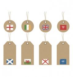 British isles flag tags vector