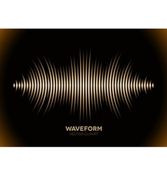Sepia sound waveform vector