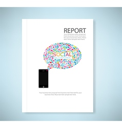 Cover report social network background vector