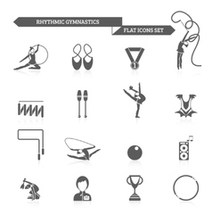 Gymnastics icons set vector