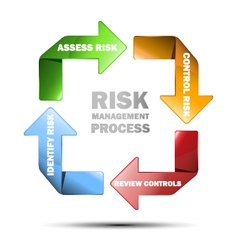 Diagram of risk managment vector