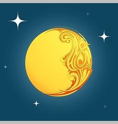 Decorative moon shape ornament vector