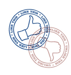 Like and unlike stamps vector