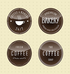 Badge design for coffee and bake vector