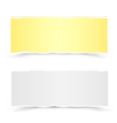 Yellow and white pieces of paper vector