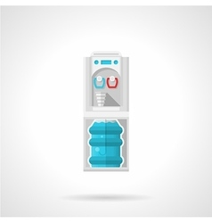 Flat gray water cooler icon vector