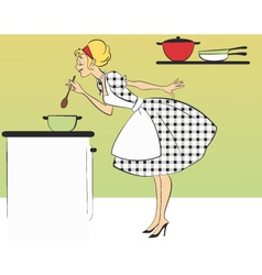 Cooking dinner vector