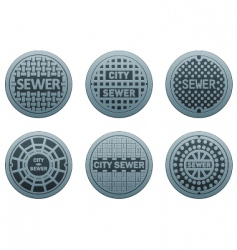 Manhole covers vector