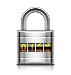 Coded padlock vector