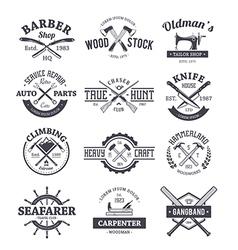 Crafts emblems 1 vector