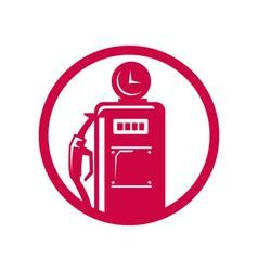 Gasoline pump filling station vector