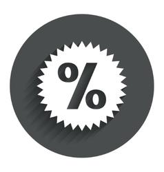 Discount percent sign icon star symbol vector
