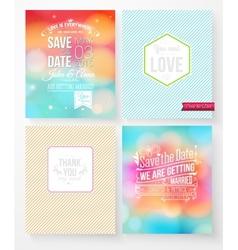 Set of wedding invitation templates vector