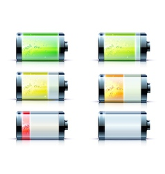 Battery level indicators vector