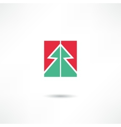 Conifer icon vector