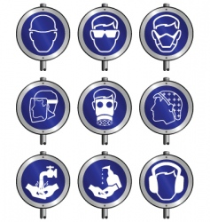 Industry signs vector