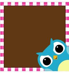 Cute owl baby boy arrival card vector