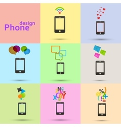 Set of phones icons vector
