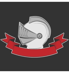 Knight helmet vector