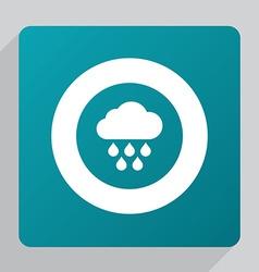 Flat cloud rain icon vector