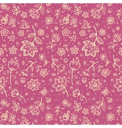 Hand-drawing flower seamless pattern vector