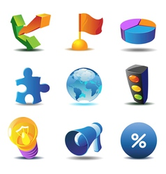 Business concept icons vector