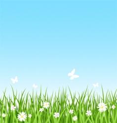 Seamless grassy field vector