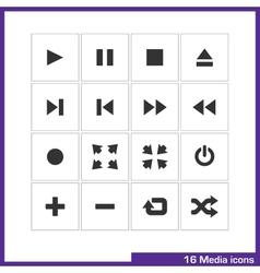 Media icon set vector