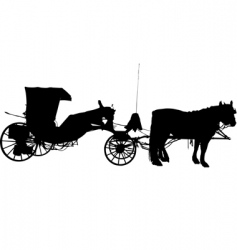 Horse and coach vector