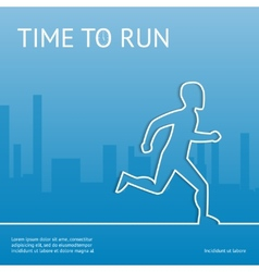 Time to run sport in the city vector
