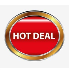 Hot deal button vector