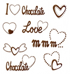 All about love and chocolate vector