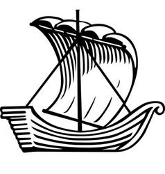 Ancient ship vector
