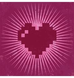 Retro valentine greeting card vector